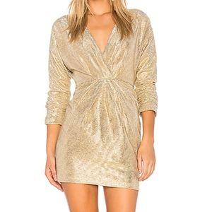 Gold Surplice Dress